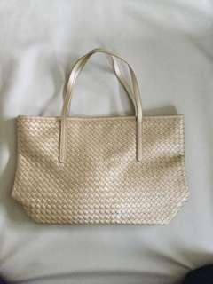 Gold braided tote
