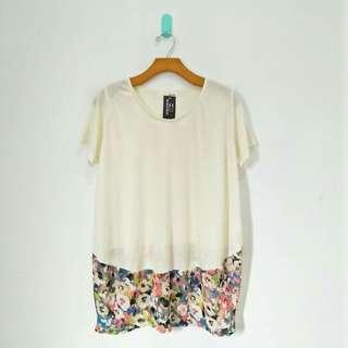 White & Floral Tee