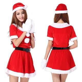 Christmas Party Female Santa Claus Holiday Costume Rental