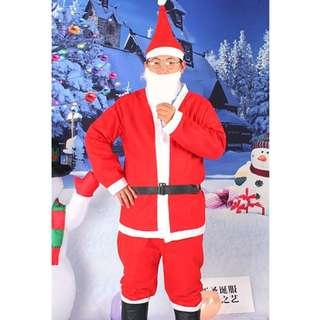 Christmas Party Male Santa Claus Holiday Costume Rental