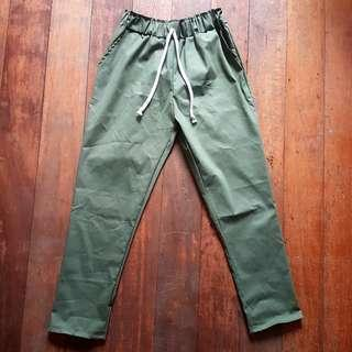 Green Trousers High Waisted