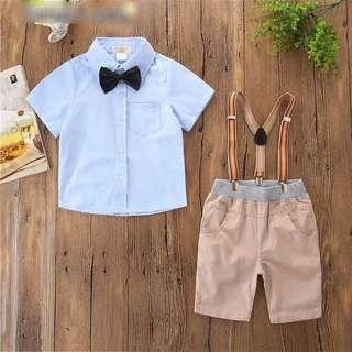 [PO] 2 pcs boy gentlemen suit set (3 designs)
