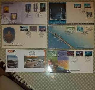6 First Day Covers - Malaysia Iconic Projects theme