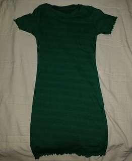 Green Stretchy bodycon dress