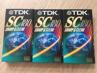 100% 全新TDK錄影帶