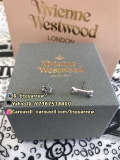 (現貨) 購自英國 Vivienne Westwood OTTO 合金 迷你 骨頭 土星耳環 耳釘 (保証正貨) 價錢為1隻
