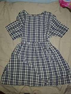 Checkered flowy casual dress