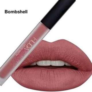 Authentic Huda Beauty Liquid Matte Lipstick in Bombshell