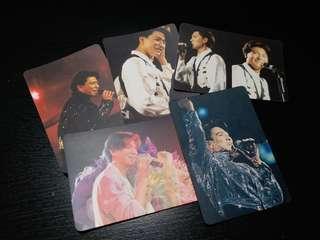 劉德華 演唱會 YES! Card 咭 5張