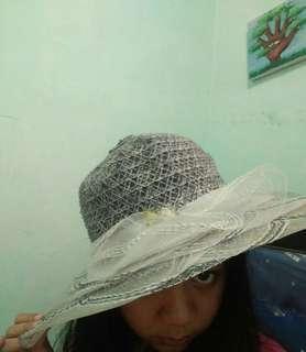 ROUND NYLON HAT/ BEACH HAT/ TOPI PANTAI