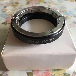 已減價 FOTGA LM-NEX鏡頭轉接環 Leica M轉SONY索尼NEX機身A7ii 已減價