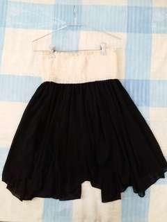 不規則紡紗短裙