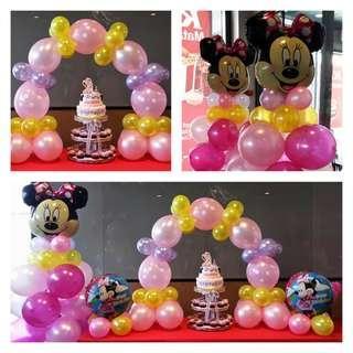 Minnie Mouse Theme Birthday Balloon Decor Set