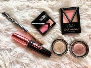 All in Assorted Maybelline MAKE UP (USED AND NEW)