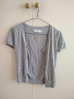 Grey cardigan short sleeve