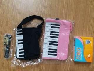 鋼琴 音樂 圖案 小袋仔 散紙包 掛飾 電話繩(全要包平郵)