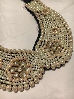 Beaded Collar Choker Necklace