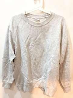Sweater Uniqlo uuu abu abu