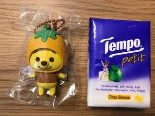 Winnie the Pooh 小熊維尼 菠蘿造型鎖鑰扣