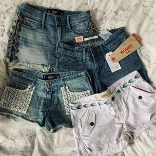 $80 per one Hollister / levis denim shorts