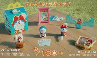 叮噹 多啦A夢 McDonald 日本麥當勞 2018 一套6隻 $220 順豐到付/地鐵交收