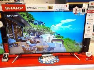 Led Tv Sharp 45 inch 4K Android Tv (Bisa Kredit)