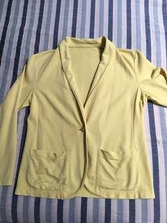 Uniqlo yellow soft blazer/ outwear