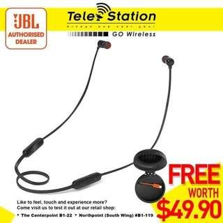 Promotion JBL T110BT Wireless In-Ear Headphones with FREE Charging Case