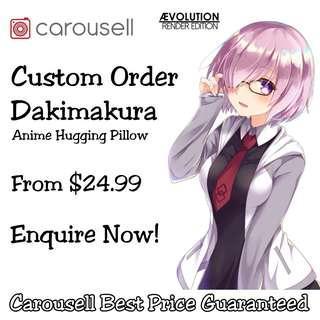 🚚 Custom Order Dakimakura Anime Hugging Pillow Body Pillow Cover Casing #next30
