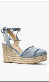 🚚 美國正品MK丹寧楔形鞋-6.5碼