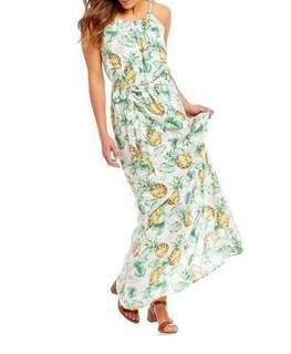 🌸Maxi Pineapple dress cd1209