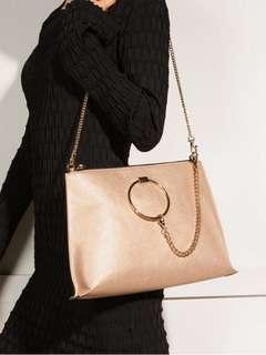 🎄XMAS SALE! ALDO RING DETAILED SHOULDER BAG (GOLD) READY STOCK >> 3 COLORS