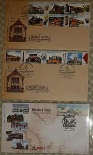 4 First Day Covers- Muziums theme