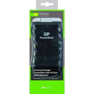 🚚 GP PB19 Universal Charger - Compatible With AA, AAA, C, D & 9V Ni-MH Batteries