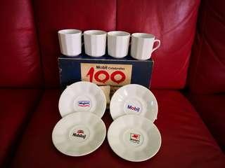 Mobil Celebrates 100 Years In Singapore - Commemorative Tea Set