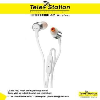 Promotion JBL T210 Pure Bass In-Ear Earphone With Microphone