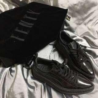 🚚 超級帥氣喔 puma fenty 黑色厚底漆皮鞋