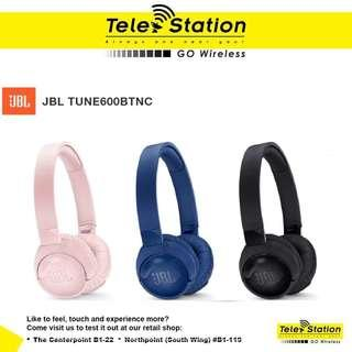 Promotion JBL Tune 600BTNC Wireless On-Ear Active Noise Cancelling Headphones