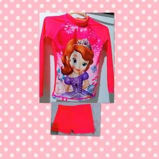 Rash guard for baby with short