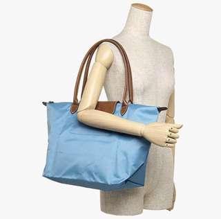 Longchamp 長柄 海水藍