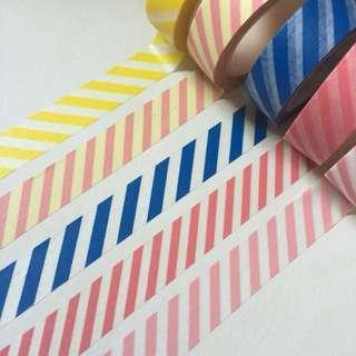 Basic stripes washi tape