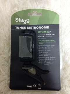 🚚 Stagg 夾式調音節拍器 tuner metronome CTUM-C7 for guitar, bass, violin, ukulele C and chromatic tuning. 吉他 烏克麗麗