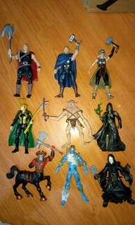 "Marvel and fantasy figures 3.75"" inch lot"