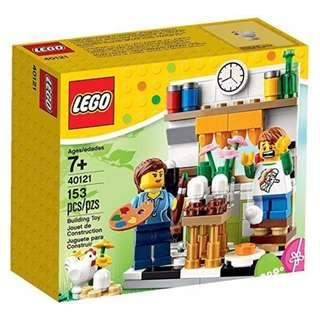 Leeogel Lego 40121 Painter Painting Easter Eggs Seasonal Set - New In Sealed Box
