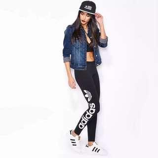 ( 附實拍) Adidas legging 女 運動褲收腿小腳緊身褲顯瘦褲
