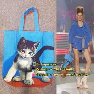 (折扣貨) Vivienne Westwood KITTEN Shopping Tote Bag 帆布 貓仔 手提袋 單肩袋 (保証正貨及全新)