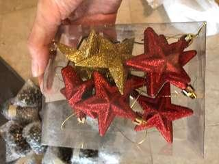 Christmas tree ornaments stars