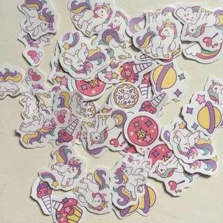 Unicorn cute flake stickers