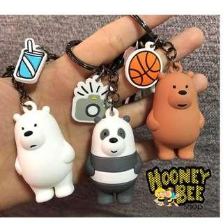 Original Miniso - Gantungan Kunci We Bare Bears Sport