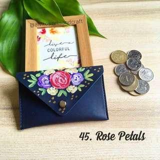 Hand painted Coin Purse Wallet